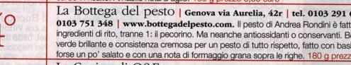 Pesto Genovese - classifica Gambero Rosso